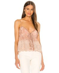 Free People Jenna Embroidered Cami - Pink