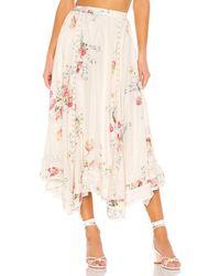 LoveShackFancy Navya Skirt - Weiß