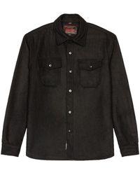Schott Nyc Рубашка Cpo Wool В Цвете Черный