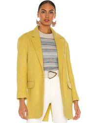 Étoile Isabel Marant Пальто Limi В Цвете Желтый
