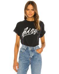 Anine Bing Bing グラフィックtシャツ - ブラック