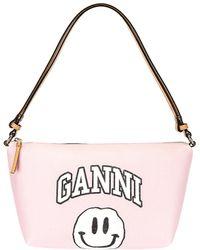 Ganni Shoulder Bag - Pink