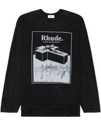Rhude After Death ロングスリーブtシャツ - ブラック