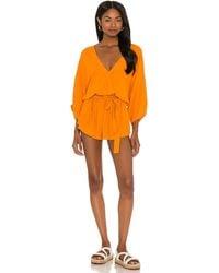 Indah Sunday Romper - Orange