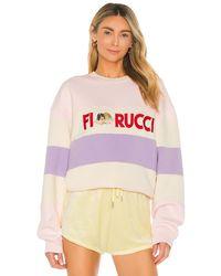 Fiorucci Свитшот Italia Stripe В Цвете Мульти - Розовый