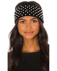 Lele Sadoughi Теплые Наушники Knit Pearl В Цвете Jet Pearl - Черный