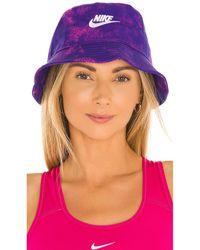 Nike Шляпа Nsw В Цвете Lapis & Hyper Pink - Пурпурный