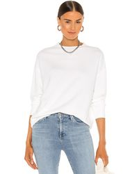 Vince Essential Relaxed Pullover - White