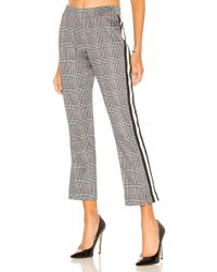 Pam & Gela - Glen Plaid Cropped Track Pant In Grey - Lyst