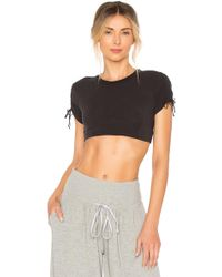 Free People - Movement Shake It Up Crop Top In Black - Lyst