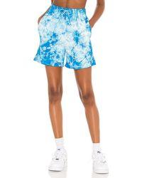 Frankie's Bikinis X Revolve Burl Sweat Short - Blue
