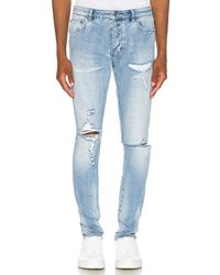 Ksubi Chitch Punk Blue-Jeans im Destroyed-Look - Blau