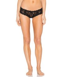 Hanky Panky After Midnight Open Crotch Cheeky Hipster - Black