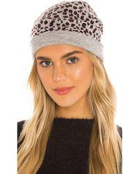 Autumn Cashmere Cashmere Leopard Pattern Hat - Gray