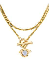 Jenny Bird Ожерелье Veaux В Цвете Золотой - Металлик