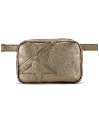 Golden Goose Deluxe Brand Поясная Сумка Star В Цвете Metallic Musk - Металлик