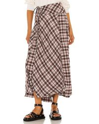 Free People Deep In Thought Maxi Skirt - Red
