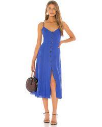 BCBGMAXAZRIA Button Down Midi Dress - Blau