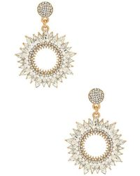 Shashi Gold-plated Crystal Earrings Silver - Metallic