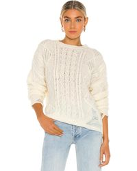 NSF Anabell Crew Neck Sweater - White