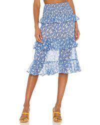 MAJORELLE Everly Midi Skirt - Blue
