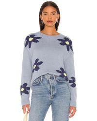 Rails Пуловер Zoey В Цвете Blue Daisies - Синий