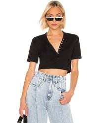 T By Alexander Wang - Compact Jersey Snaps Top - Lyst