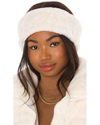 Apparis Eleni Faux Fur Headband - Weiß