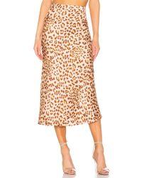 Free People - Normani Leopard Print Bias Cut Midi Skirt - Lyst