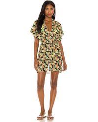 ViX Мини Платье Fiji В Цвете Beatrice - Желтый
