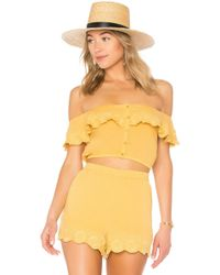 Amuse Society - Front Row Top In Mustard - Lyst