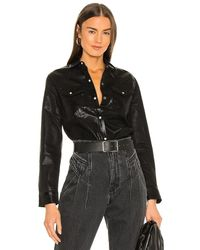 AllSaints Hazel Coated Shirt - Black