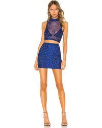 superdown Rochelle Mesh Skirt Set - Blue