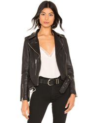AllSaints Balfern Leather Biker Jacket - Schwarz