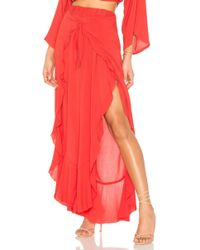 Blue Life - Ruffle Culotte In Red - Lyst