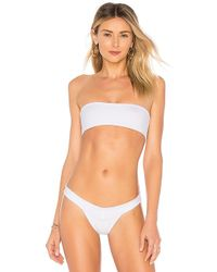 Indah - Toss Bandeau Top In White - Lyst
