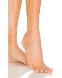 ADINAS JEWELS Evil Eye Tennis Anklet - Metallic