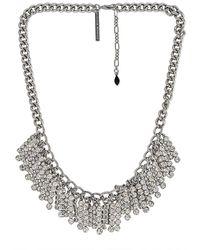 Rebecca Minkoff Chain Fringe Necklace - Metallic
