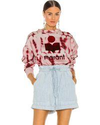 Étoile Isabel Marant Mobyli Sweatshirt. Size 36/4, 38/6. - Rot