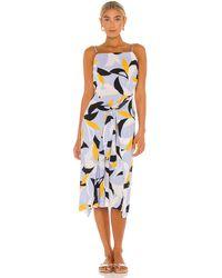 Seafolly Платье Миди Aloha В Цвете Синяя Сталь - Синий
