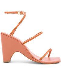 Jaggar Woven Wedge Sandal - Pink