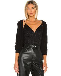 L'Agence Laurette ボディスーツ - ブラック