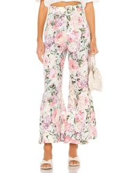 Faithfull The Brand Rose Wide Leg Pants - Pink