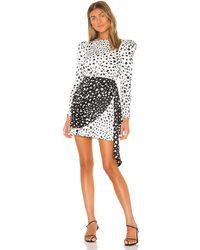 LPA Платье Kristina В Цвете Austin Print - Черный