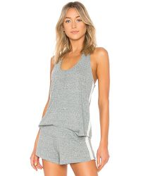 Eberjey - Heather Active Tank In Gray - Lyst