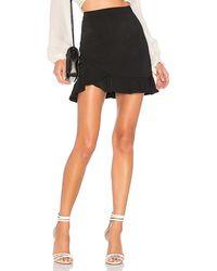 superdown Milan Ruffle Mini Skirt - Black