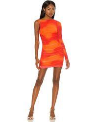 Camila Coelho Seri Mini Dress - Orange