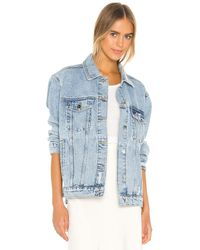 Anine Bing Rory Denim Jacket - Blue