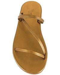 Ancient Greek Sandals Parthena スライド - メタリック