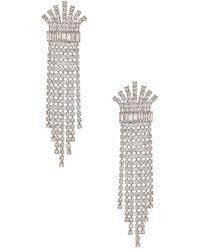 Elizabeth Cole Crystal Fringe Earring - Mettallic